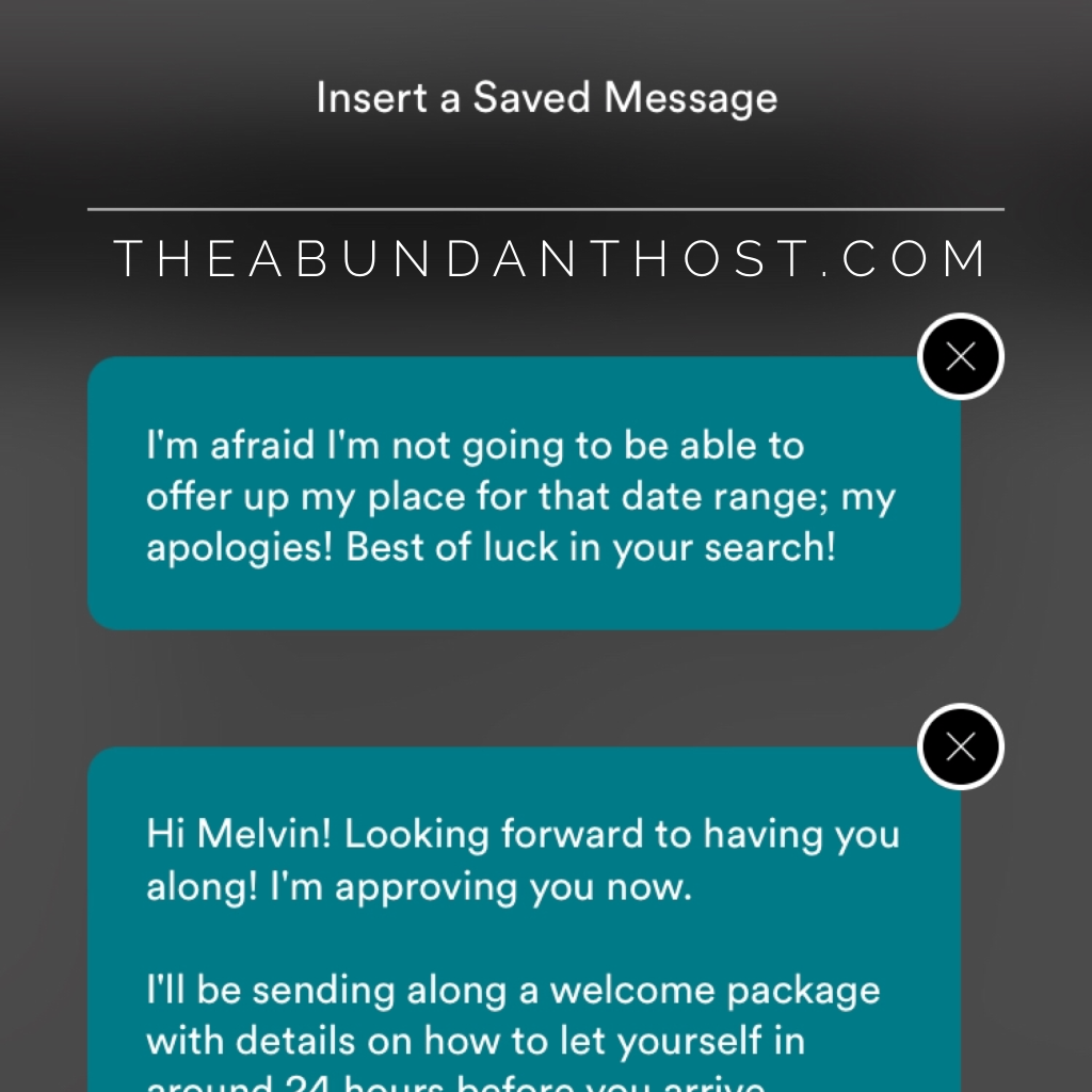 quick time saving airbnb saved message tip