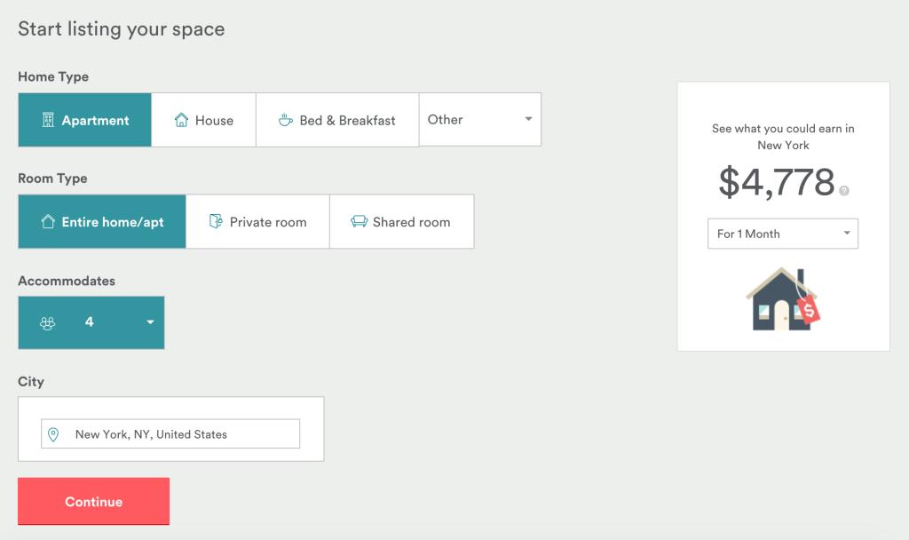 start hosting on airbnb get 50