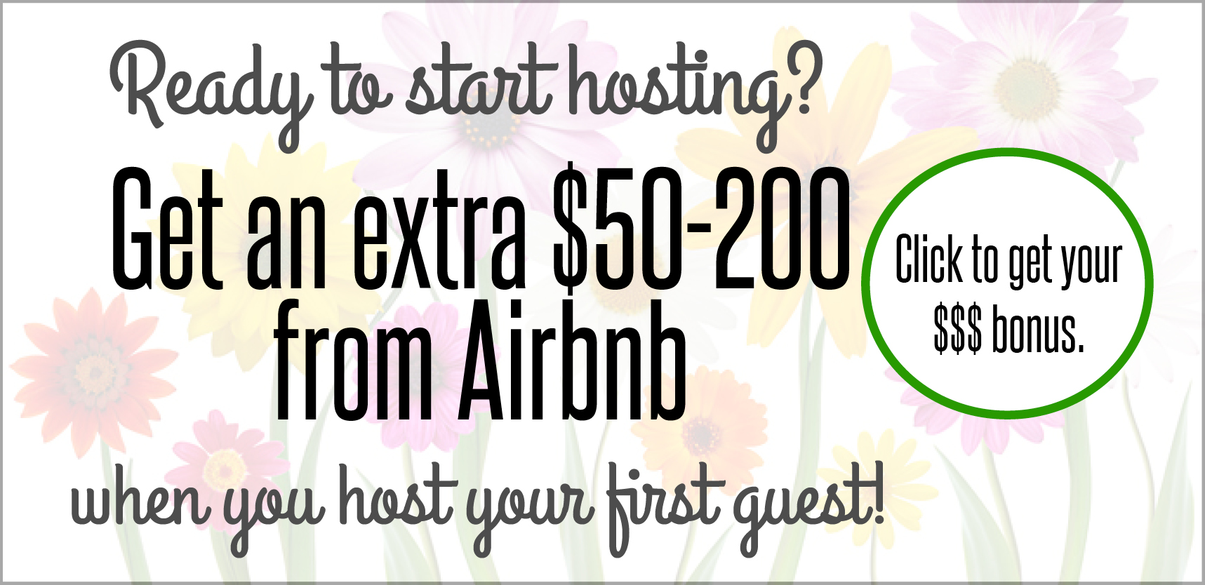 get $200 bonus from Airbnb when start hosting